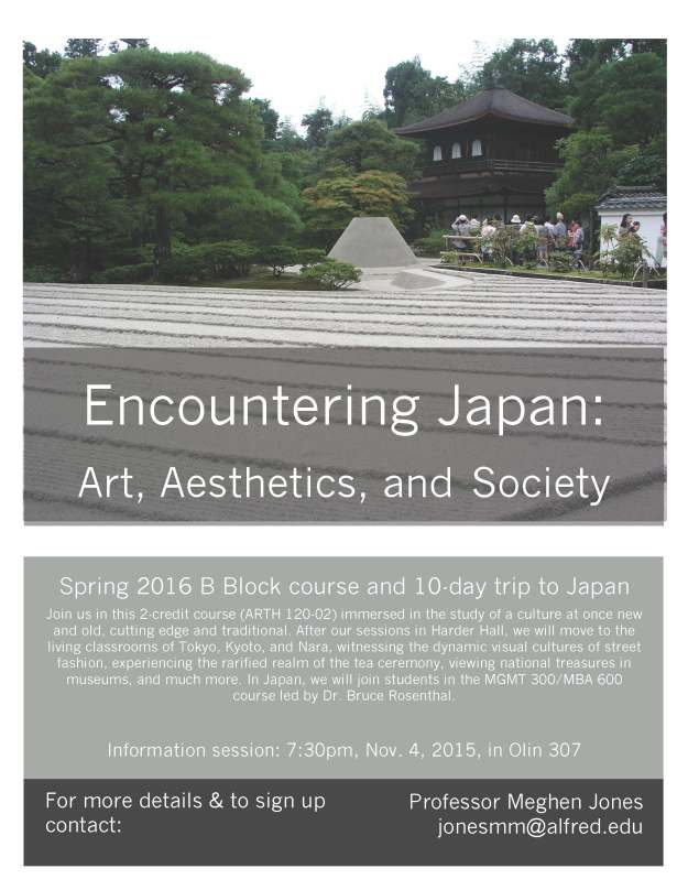 B Block course & trip poster, Encountering Japan, 10 7 15